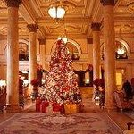 Willard Hotel lobby at Christmas