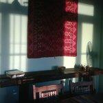 Mesa antigua de trabajo - decorando sector comedor