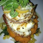 Lobster Tail with Sweet Potato Puree