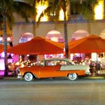OLD CAR ON OCEAN DR. @ NIGHT