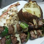 Steak Kabob with Glazed Shrimp