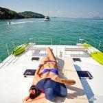 Sunbathing at Racha Islands