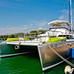 Our Flagship catamaran at the Marina dock
