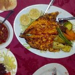 The grilled fish was excellent - it came with two different sauces.