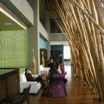 Sleek lounge at Diez Hotel