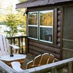 Wolf cabin and deck with chairs