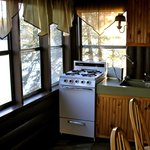 Kitchen in Wolf cabin