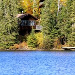 Another view of the Wolf cabin from the lake