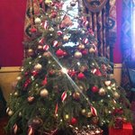 The lobby Christmas tree