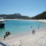 Punto de embarque / desembarque en las Islas Cíes