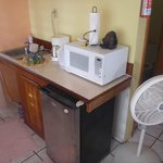 Kitchenette in the cabana