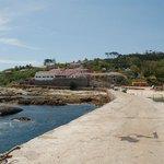 Puerto de embarque y desembarque en la Isla de Ons