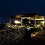 terrazza con veduta panoramica notturna