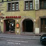 from the street, view of le Maharaja