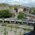 Our room's view of the LUAS