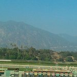 From the Grandstand, across the track to the mountains.