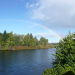 Rainbow over the Campbell River