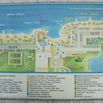 Photo of hotel map on grounds