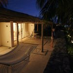 Reef front suite terrace with hammock