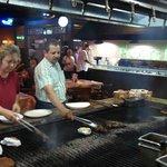Steak and potato grilling