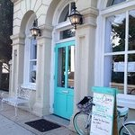 You can not miss the Tiffany Blue Door!