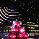 outside the Omni at Christmas