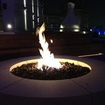firepit at pool