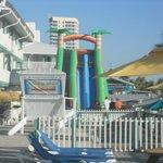 Big Slide on deck