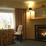 Room with a view and fireplace!