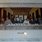 quadro del locale:ultima cena napoletana!