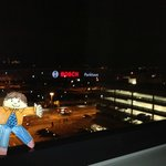 View from room along with Flat Stanley