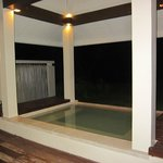 Plunge pool. In Ocean view room. A waste with a quiet stunning beach like that on your doorstep.