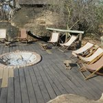 Fire pit overlooking Lake Burungi