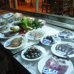 Seafood selection in the restaurant - worth trying!