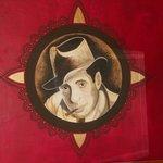 Humphrey Bogart painting in Hotel Casa Blanca