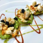 lobster tosadas with caviar