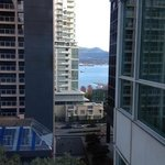 obstructed view of the waterfront from the room