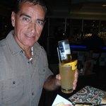 JD Tennessee Whiskey, hand shaken with Triple Sec, fresh lemon sour & a Corona