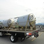Unitanks arrival to the brewery