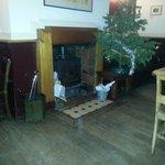 la cheminée dans le pub restaurant