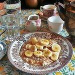 Of tea and banana porridge.