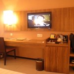 The room with TV and mini bar