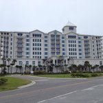 The exterior of the Margaritaville Beach Hotel.