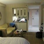 Smallish room, but cozy.