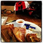 Cycling friendly cafe stop!