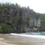 welcome beach going inside the underground river of Plawan,Phillipines