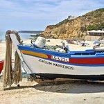 Boat on Salema beach