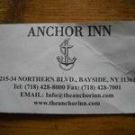 Proof of the 'right Anchor Inn' Bayside