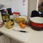 Jag gjorde Sangria i köket.