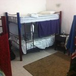 6 bunk coed dorm- comfortable mattresses and AC.